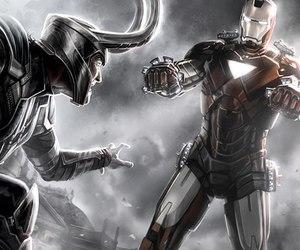 loki, iron man, and Marvel image