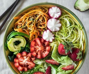 food, green, and salad image