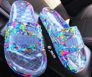 shoes, puma, and slides image