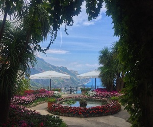Amalfi coast, flowers, and costiera amalfitana image