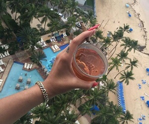 theme, beach, and drink image