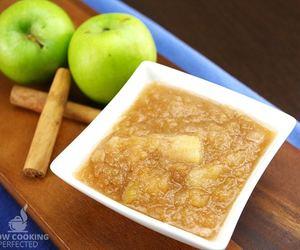 homemade, sweet, and applesauce image