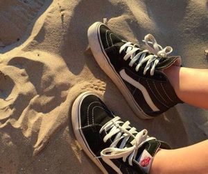 vans, beach, and shoes image