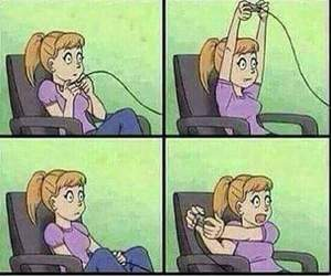 girl, game, and funny image