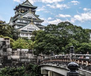 japan, osaka, and castle image