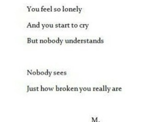 broken, sad, and lonely image