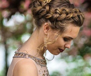braid, hair style, and hairs image