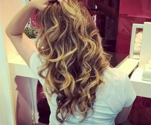 blonde and hair curls image