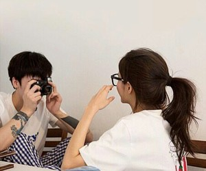 couple, glasses, and photography image