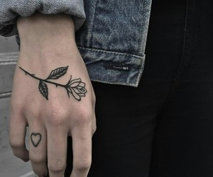 flower, heart, and style image