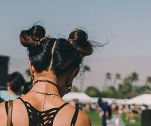 hair, style, and coachella image