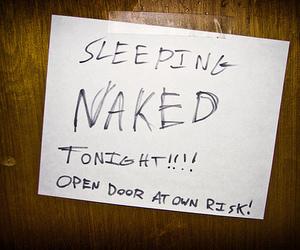 door, note, and risk image