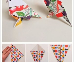 bird, tutorial, and origami image