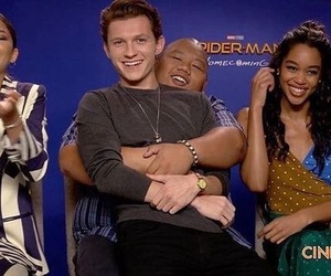 cast, spiderman, and spiderman homecoming image