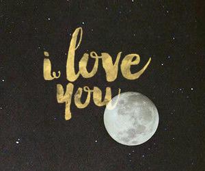 i, moon, and wallpaper image