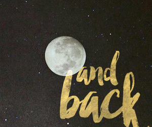 back, moon, and wallpaper image