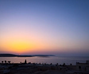 beach, malta, and sea image