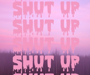 shut up, pink, and pastel image