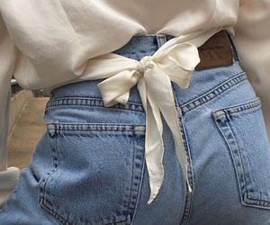 beauty, fashion, and jeans image