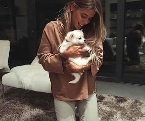 animal, girl, and fashion image