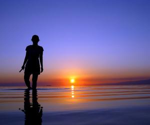 backlight, beach, and blau image