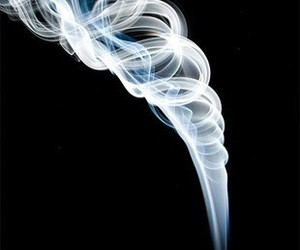 blue, white, and incense image