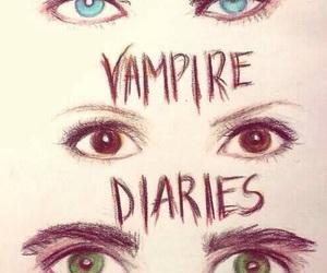 tvd, damon, and the vampire diaries image
