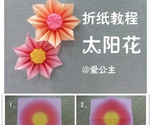 flower, origami, and tutorial image