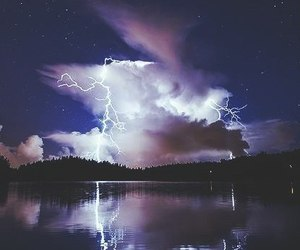 lightning, clouds, and nature image