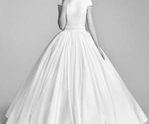 bridal, brides, and dress image