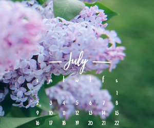 calendar, flowers, and font image