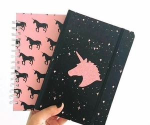unicorn, pink, and black image