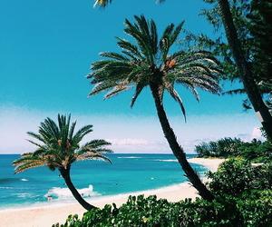 areia, beach, and blue image