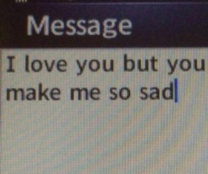 love, sad, and message image