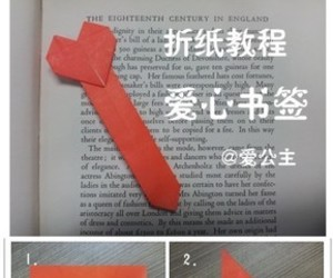 origami, heart bookmark, and origami hearts image