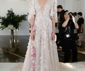 dress, bride, and Marchesa image
