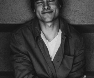 kian lawley and black and white image