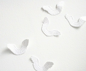 white, aesthetic, and angel image