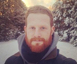 beard, man, and winter image