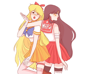 sailor moon, sailor mars, and sailor venus image