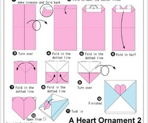 origami heart ornament, valentine fold, and origami hearts image