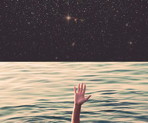 hand, ocean, and water image