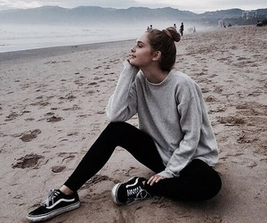beach, vans, and outfit image