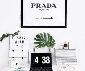 desk, home, and Prada image