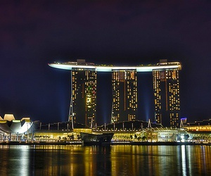 hotel, marina bay sands, and singapore image