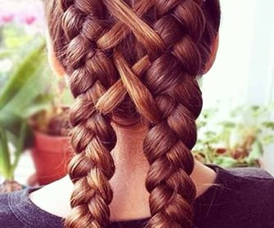hair, braid, and cool image