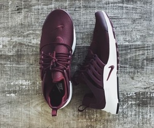 burgundy, nike, and shoes image