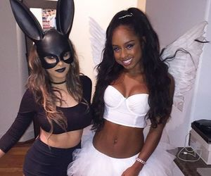 black, bunny, and girl image