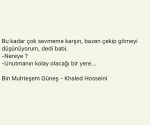 khaled hosseini, türkçe sözler, and bin muhteşem güneş image