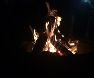 camping, fire, and summer image